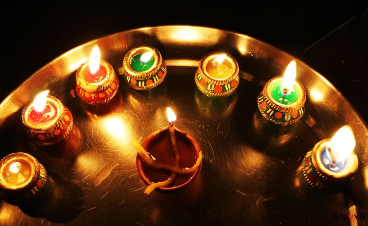 https://flic.kr/p/BdP71C | Diwali thali 2015 | Colorful Clay Candle.
