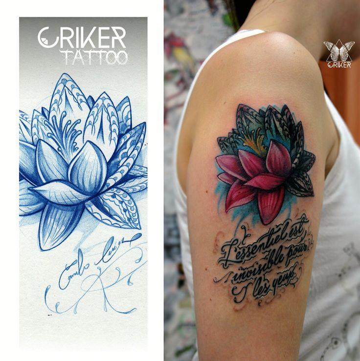 Lottus Tattoo / Flor de Lotto Tatuada por Criker