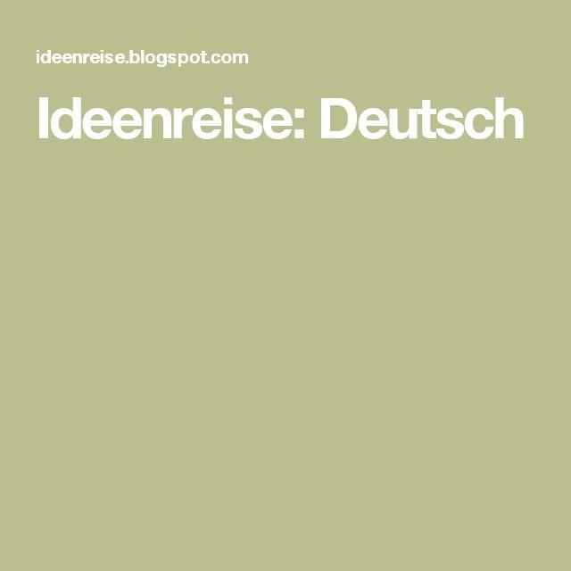 Ideenreise: Deutsch