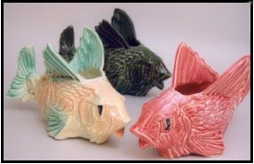 McCoy pottery fishes