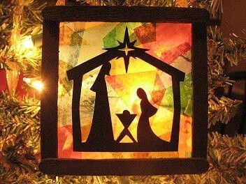Love this silhouette!! - Another cute Idea to do with kids at church