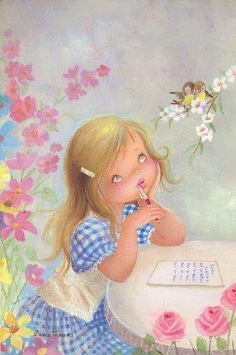 Reading and Writing Illustration by Costanza (l: Las Mejores Galerías de Anime, DigitalArts y Más ------> Licena Hil)
