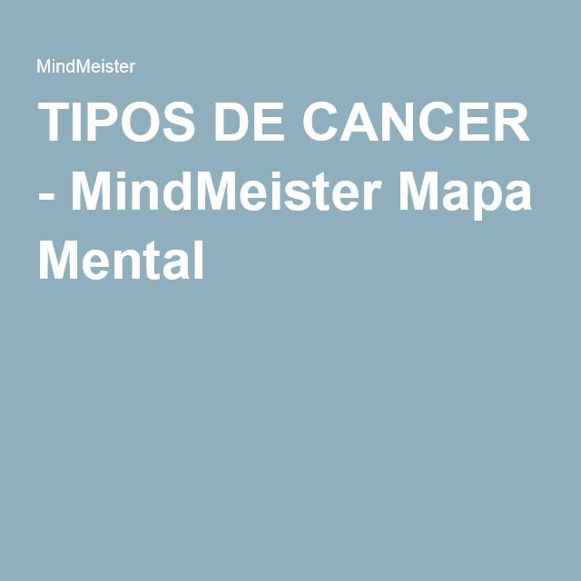 TIPOS DE CANCER - MindMeister Mapa Mental