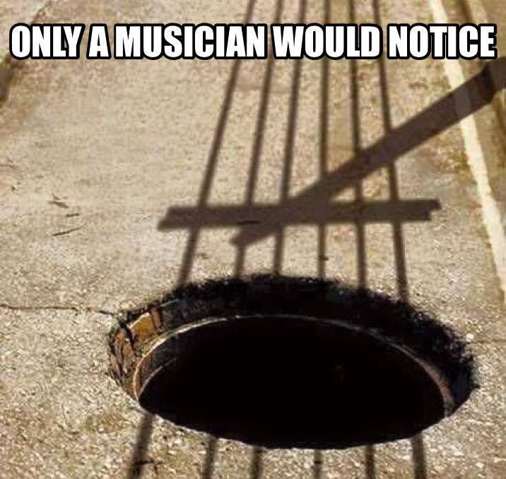 "A ""hole"" note. Took me a bit to realize that this isn't a weird cello"