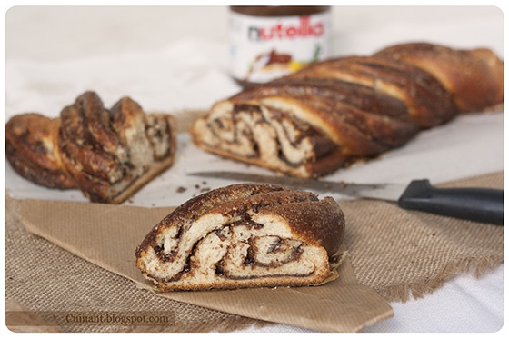 Cuinant: Trenza Rellena de Nutella --kringle estonia--