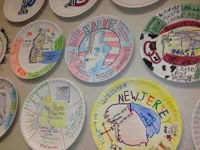 Great State Plates - a fun geography activity or a great way to remember your travels.