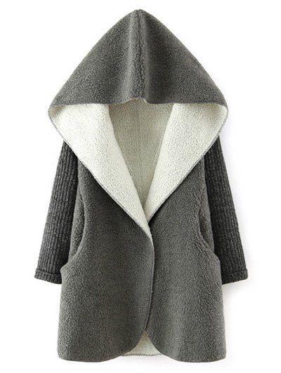 Hooded Fleece Sherpa Coat