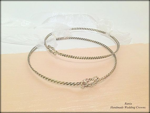 Wedding Crowns.Stefana.Sterling Silver Oxidized by RaniaCreations
