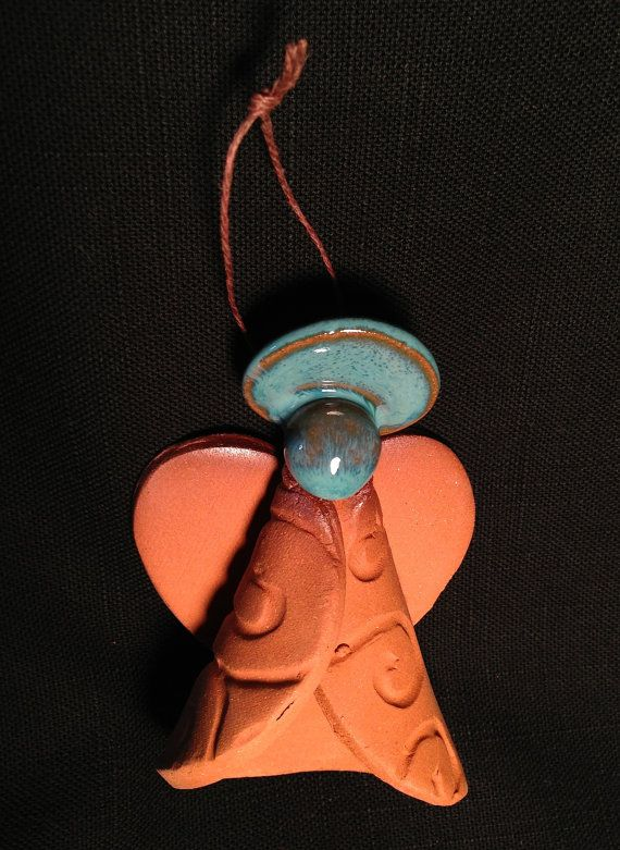 Handcrafted Pottery Angel Ornament Contemporary by Potterybydaina