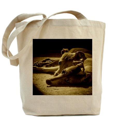 VIDA Tote Bag - Kissing greyhounds by VIDA qA6RZaDcPu