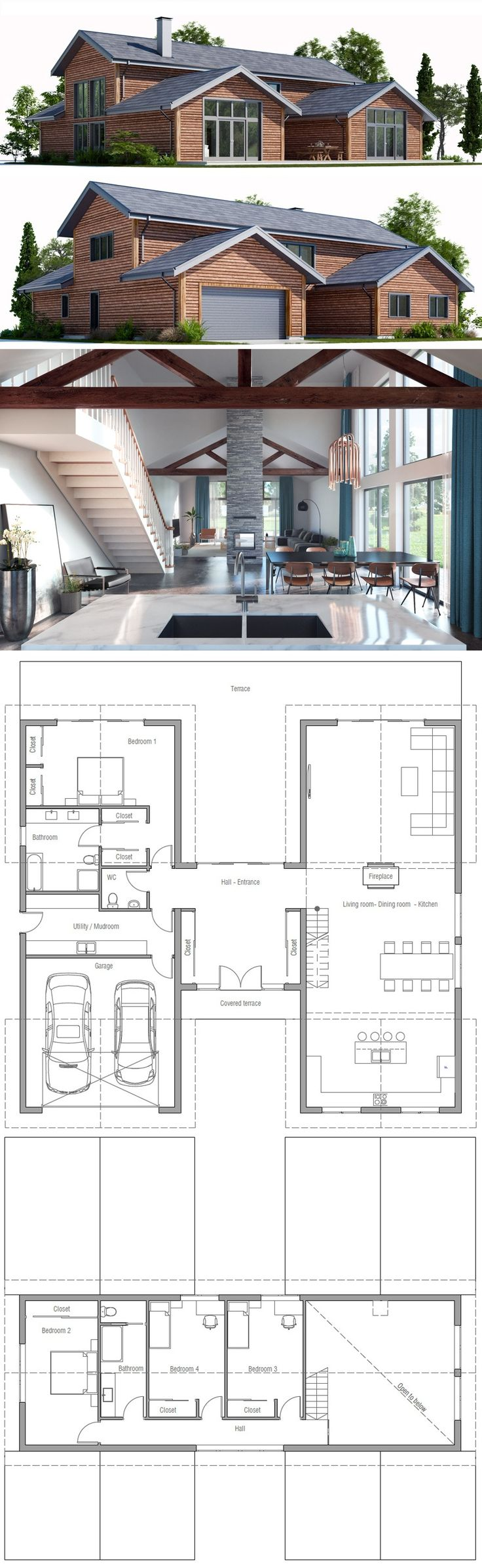 Would change up stairs to two bedrooms w/ larger closets and a bigger bathroom. Who Else Wants Simple Step-By-Step Plans To Design And Build A Container Home From Scratch? http://build-acontainerhome.blogspot.com?prod=C7hS68sf