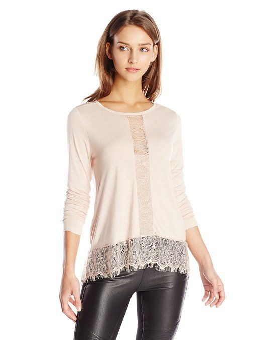Women's Iana Top with Lace Contrast