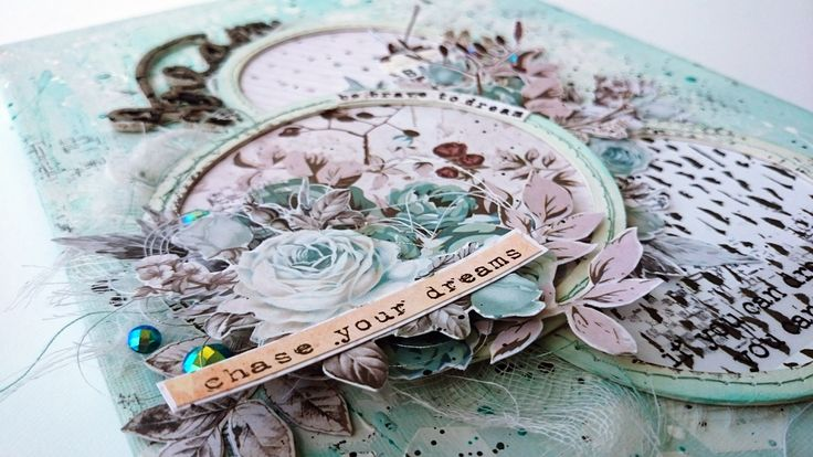 One Little Word 2018 - punkrose.hu scrapbook, mixed media, one little word 2018, dream, prima marketing zella teal, canvas, vászonkép, home dekor, lakásdekor