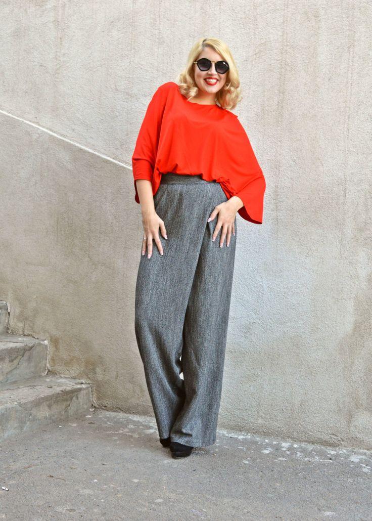 Now selling: Extravagant Grey Pants / High Waist Pants / Large High Waist Pants / Elegant Grey Pants / Loose High Waist Pants TP16 https://www.etsy.com/listing/252773627/extravagant-grey-pants-high-waist-pants?utm_campaign=crowdfire&utm_content=crowdfire&utm_medium=social&utm_source=pinterest