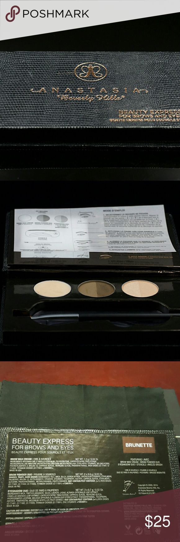 Anastasia Beverly Hills Eyebrow Palette Anastasia Beverly Hills Eyebrow Palette in Brunette  Used once. Anastasia Beverly Hills Makeup Eyebrow Filler