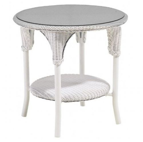 Add Atouch Of White With A White Wicker Side Table
