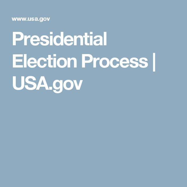 Presidential Election Process | USA.gov