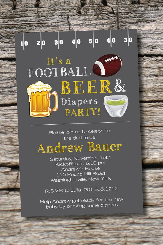 39 best baby shower | beer and diaper shower images on pinterest, Party invitations