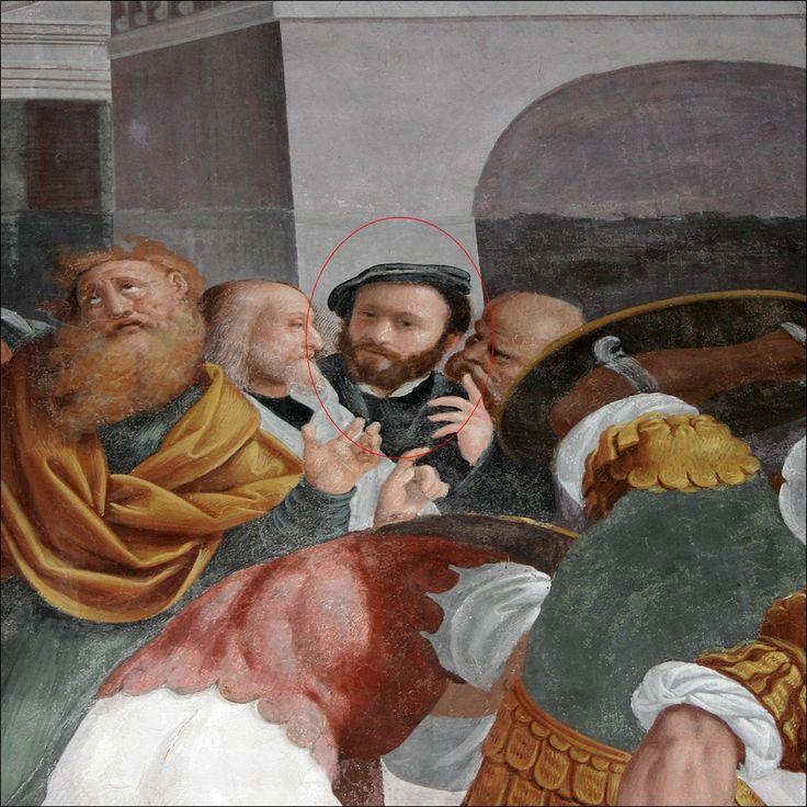 Bernardino Lanino · Autoritratto · 1548-49 · DA Martitio di santa Caterina D'Alessandria · Basilica di san Nazaro in Brolo · Milano