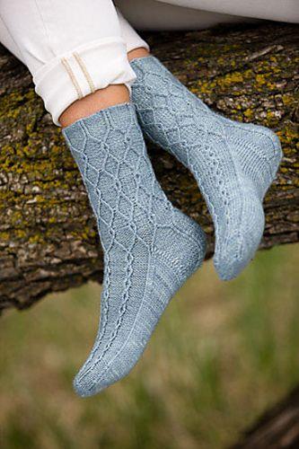 Ravelry: Thalweg Socks pattern by Sarah Fama