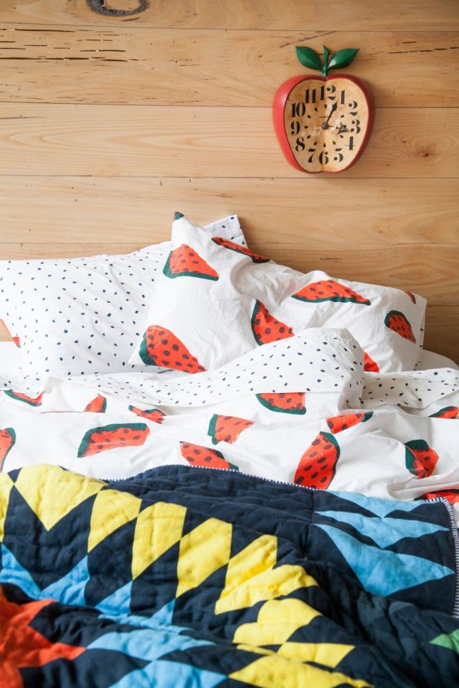 Cricut Inspiration - Using Cricut Explore Make Stencils from Watermelon Images and using paint, transfer your image onto the sheets. You now have fruity sheets that you made all by yourself!