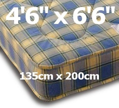 4ft6 x 6ft6 Ortho Mattress - £239.95 - A firm mattress with a lower price tag and continues to be very very popular for it's low price, comfy feel and value for money. It is similar in appearance to the Prague but deeper and with a stronger spring and much deeper upholstery quilting. Firm but certainly not hard  The mattress is upholstered on both sides so it can be turned and rotated for a longer life.