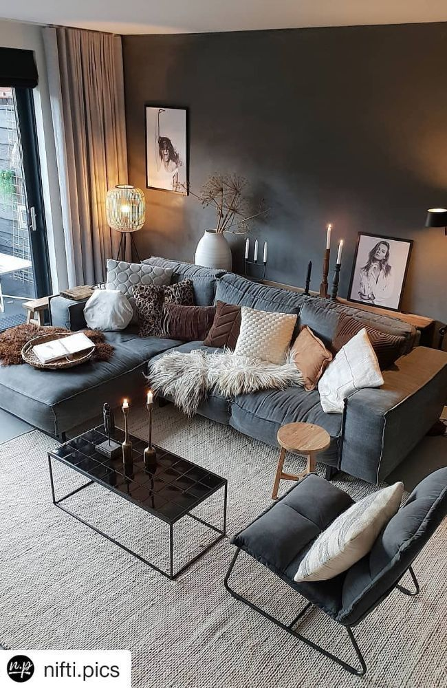 49 Living Room Interior Design Ideas Best Trends For 2019 Page 4 Of 49 Hom Design Hom Ide In 2020 Cosy Living Room Living Room Scandinavian Living Room Grey