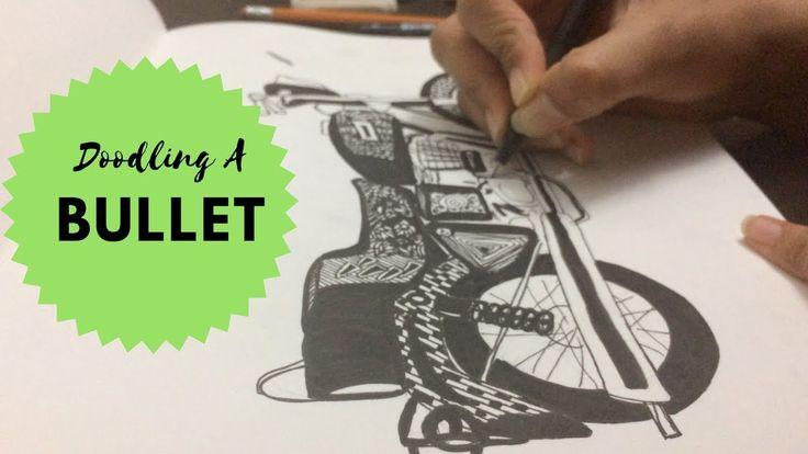 Motorbike Doodle | How I doodle a Motorbike | Bullet Doodle