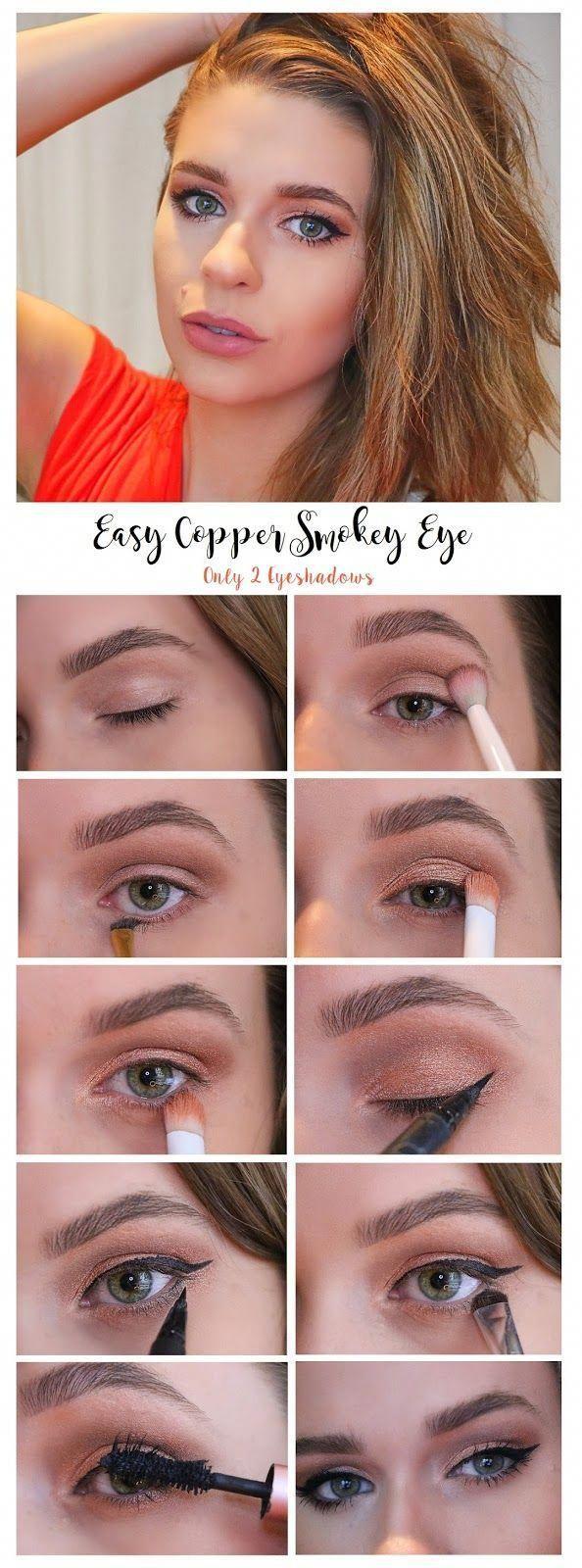 easy beginners makeup tutorial smokey eye