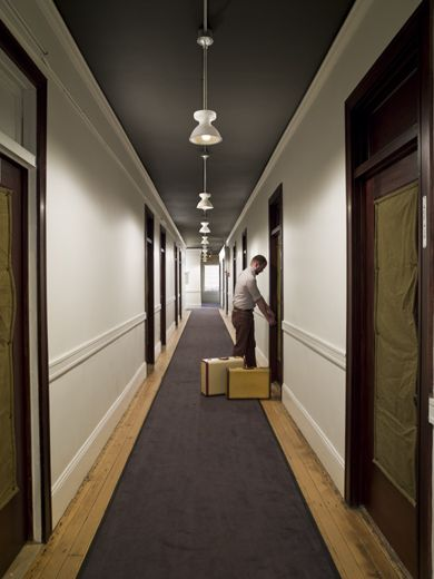 Hallway at the Ace Hotel in Portland. Niiiiice.