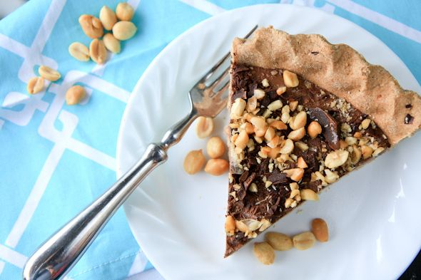 frosty banana and peanut butter chocolate pie. apparently it's healthy ...