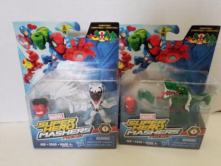Marvel Super Hero Mashers Micro Series Lizard and Anti-venom #Marvel #SuperHeroes #SuperHeroMashers #Lizard #Anti-Venom #MarvelVillains #spiderman #spider-man