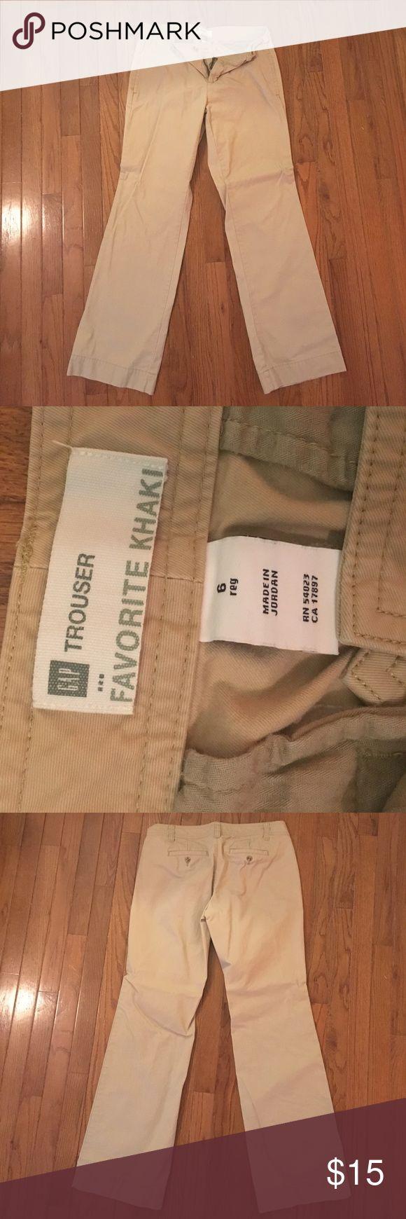 Gap Khaki trouser pants Khaki straight leg gap trouser dress pants GAP Pants Trousers