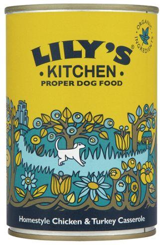 £10.44 Lily's Kitchen Chicken & Turkey Casserole Dog Food 400g x 6 - love the packaging