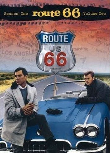 1960 Corvette from the Route 66 TV show which ran from 1960 to 1964. Pictured are George Maharis as Buz Murdock and Martin Milner as Tod Stiles.
