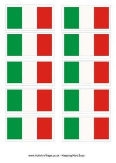 Italy Flag Printable and other craft ideas