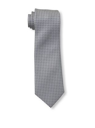 61% OFF Valentino Men's Block Grid Tie, Navy/Grey