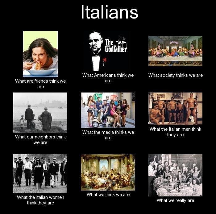 Italians. Cute! Haha... pasta-eating, family-lovin' Italians. #humor