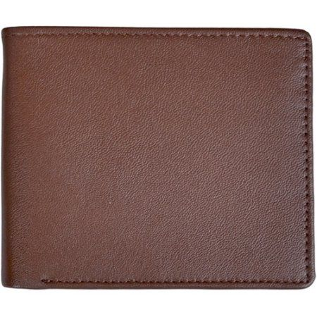 Royce Leather Rfid Blocking Double ID Men's Bifold Wallet in Genuine Leather, Brown