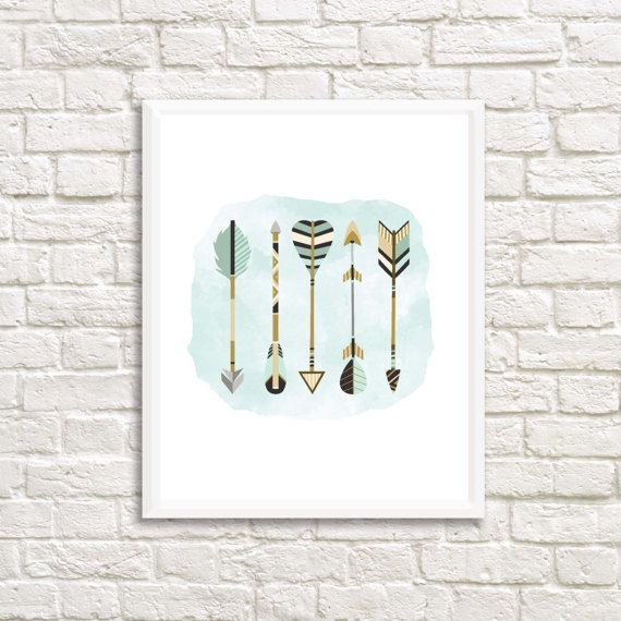 Check out this item in my Etsy shop https://www.etsy.com/ca/listing/514906925/arrows-on-watercolor-art-print