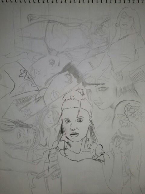 Boceto grafito tinta