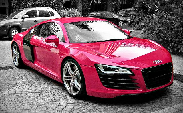 Pink Audi R8.  At least this would be different than the couple of these that are in my neighborhood. lol