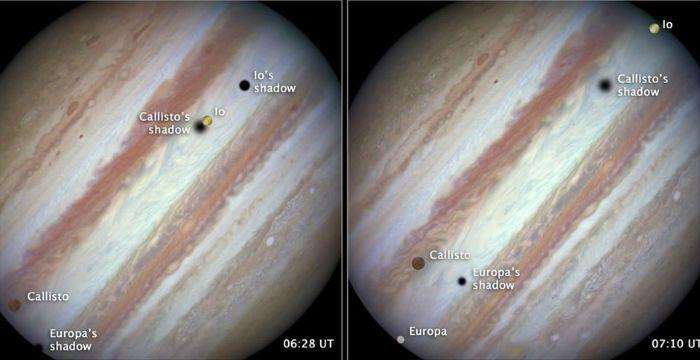 Ενα σπάνιο φαινόμενο που λαμβάνει χώρα στο σύστημα του Δία κατέγραψε το διαστημικό τηλεσκόπιο Hubble. Πρόκειται για μια σύνοδο τριών μεγάλων δορυφόρων του μεγαλύτερου πλανήτη του ηλιακού μας συστήματος. Το Hubble κατέγραψε τη σύνοδο της Ευρώπης, της Καλλιστώ και της Ιούς η οποία συνέβη σε απόσταση περίπου ενός δισ. χλμ από τη Γη και γίνεται μόλις μια ή το πολύ δύο φορές ανά δεκαετία. Η σύνοδος των τριών φεγγαριών έγινε στις 23 Ιανουαρίου και η NASA έδωσε στη δημοσιότητα τόσο εικόνες όσο και…