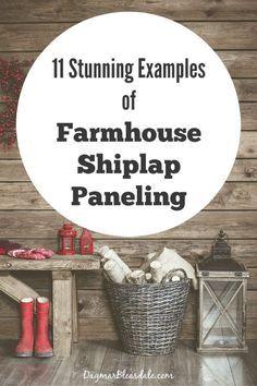Farmhouse Shiplap Paneling ideas, DagmarBleasdale.com