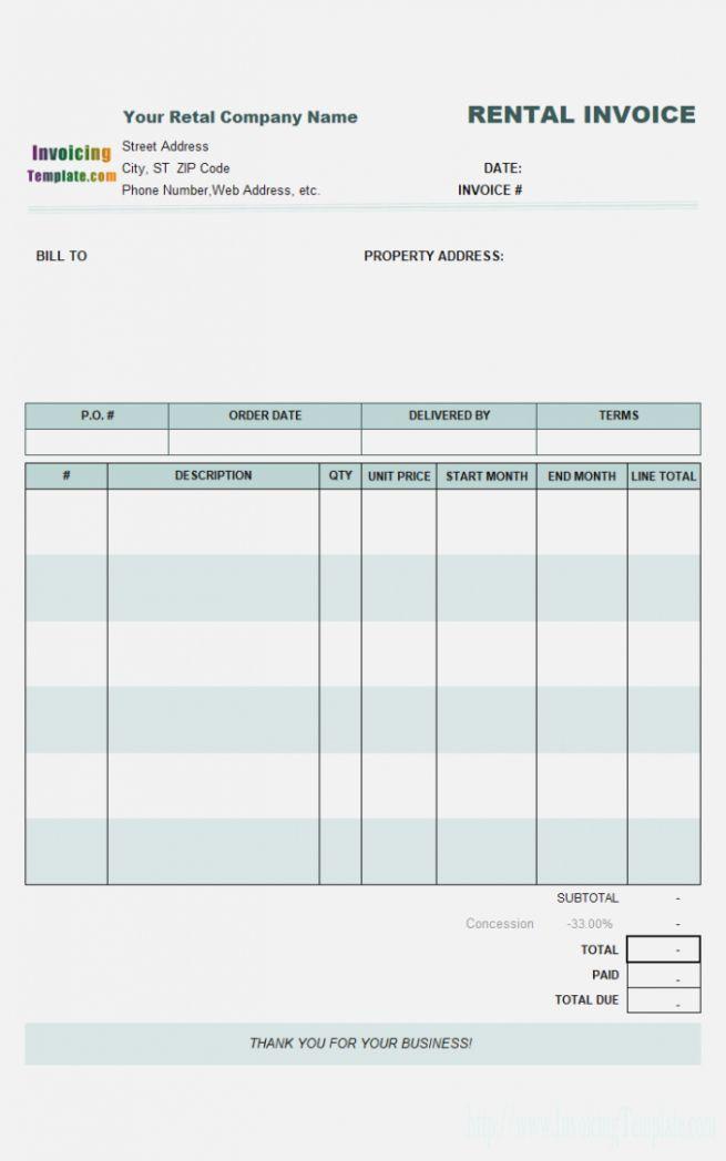 Costum Car Rental Invoice Template Excel Sample In 2021 Receipt Template Invoice Template Property Management