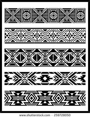 Navajo Aztec border vector illustration page