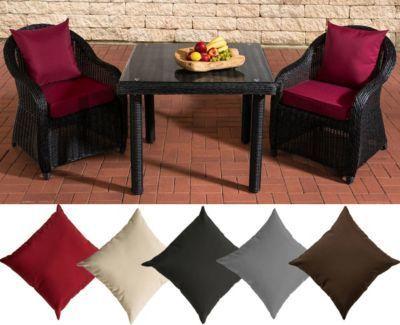 Polyrattan Sitzgruppe SAN JUAN, schwarz, Klarglas, 3 Tischgrößen wählen (2 Stühle INKL. bequemen Sitzauflagen + Esstisch) Jetzt bestellen unter: https://moebel.ladendirekt.de/garten/gartenmoebel/gartenmoebel-set/?uid=9abcef1b-9d92-5e99-b6b4-21d5f66927f3&utm_source=pinterest&utm_medium=pin&utm_campaign=boards #garten #gartenmoebel #gartenmoebelset