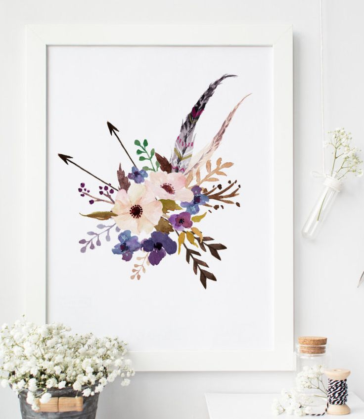 Boho Chic Wall Decor : Best ideas about floral wall art on d