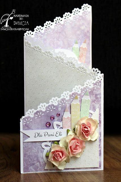 handmade card, kartka kaskadowa