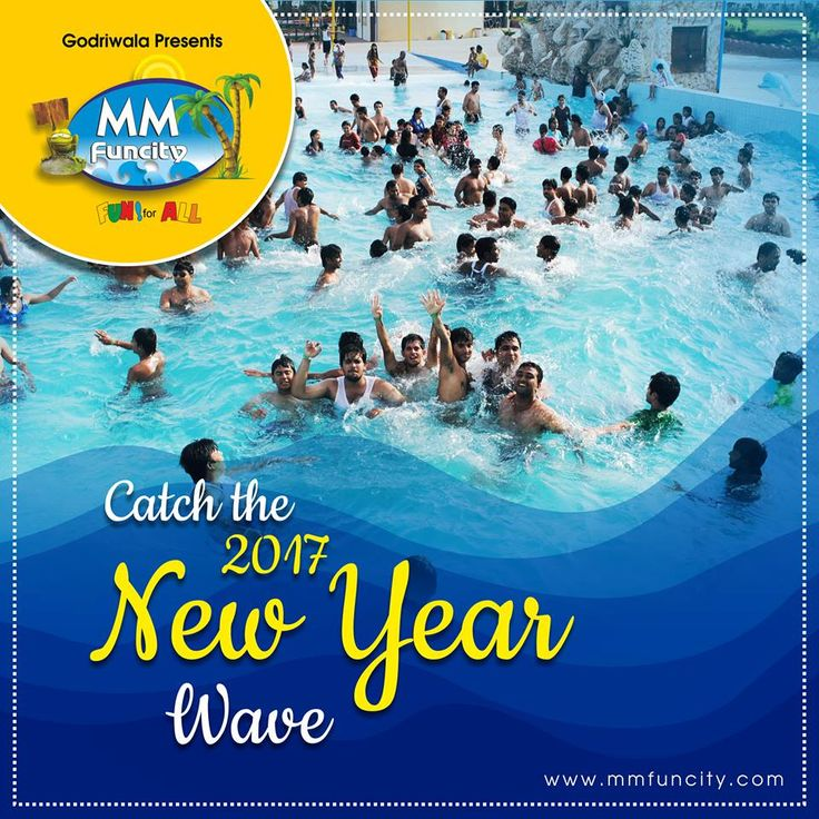 Celebrate #NewYear with family and friends in a tropical environment, splashing in the #WavePool and speeding down #WaterSlides! Book your tickets MM FUN CITY For More: https://goo.gl/Su9dWZ #Raipur #Chhattisgarh